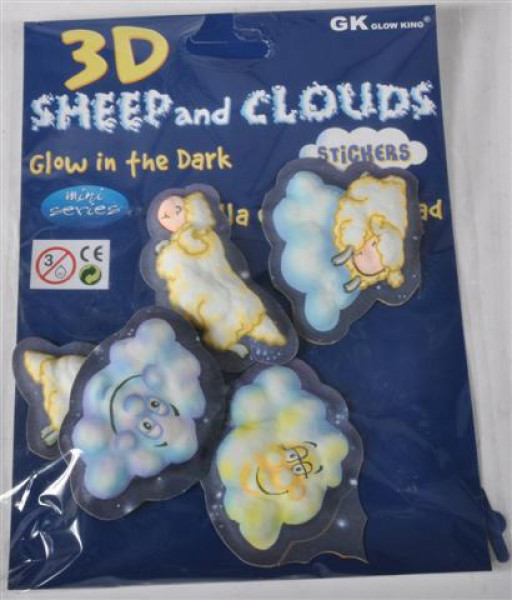 "Sticker 3D ""Glow in the Dark"" ca. 16,5x22 cm"