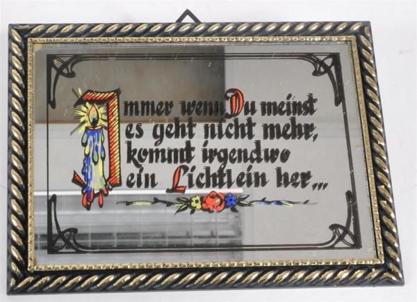 """Bild mit Spiegel """"Immer wenn Du ..."""" ca. 16,5x12 cm"""