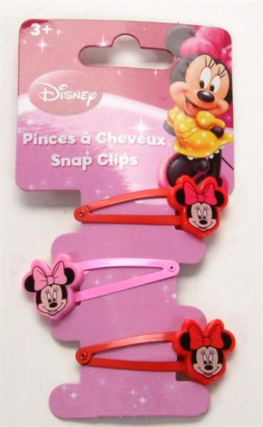 """3er Set Haarclips """"Mini Mouse"""" AK ca.14,5x5,5 cm"""