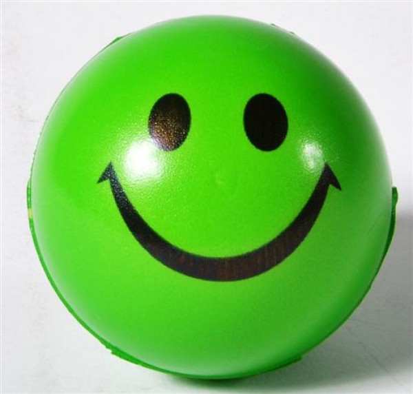 "Ball "" Smile"" farbl. sort. OPP, ca. 6.3 cm Durchmesser"
