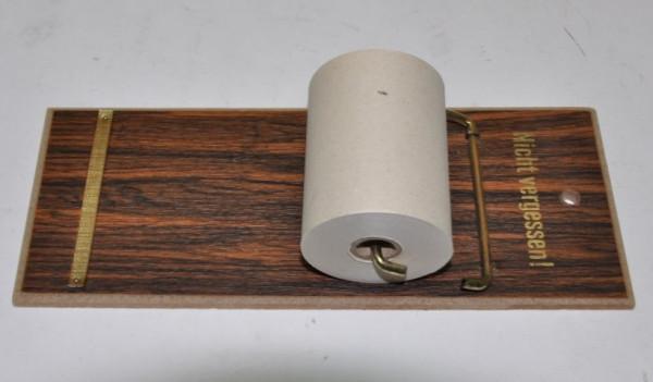 Notizrolle auf Holzbrett ca. 19,5x7,5 cm