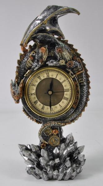 Drachen mit Uhr BB ca. 28x10x8cm