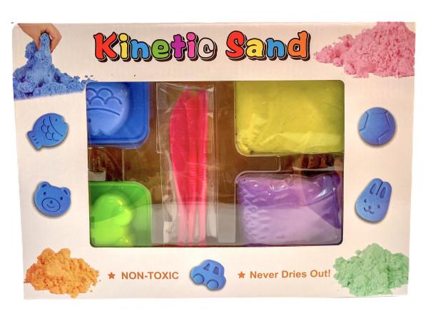 Kinetik Zauber Sand 400gramm farbl. sort. GK ca. 28,5x20x6cm