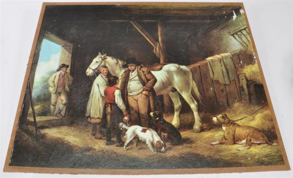"Bild ""Pferdestall"" ca. 53x43 cm"
