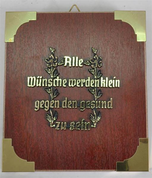 """Holzbild """"Alle Wünsche werden klein.."""" ca. 19x17 cm"""