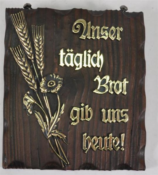 Holzbild m. Motiv u. Spruch ca. 19,5x17cm