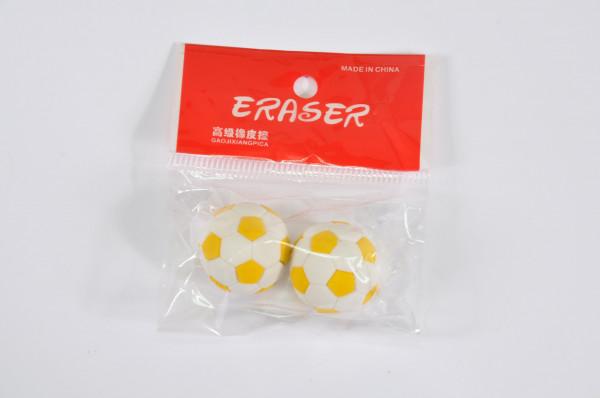 2er Set Radiergummi Fussball farbl. sort. DIS ca. 2cm