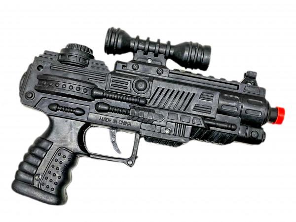 Funken Pistole AK, ca. 22cm, Karte: 28x21cm