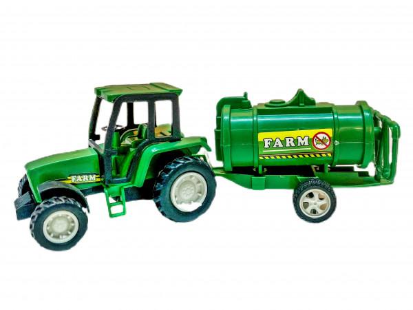 Farmer Traktor mit Anhänger sort. PVC Dose ca. 17cm