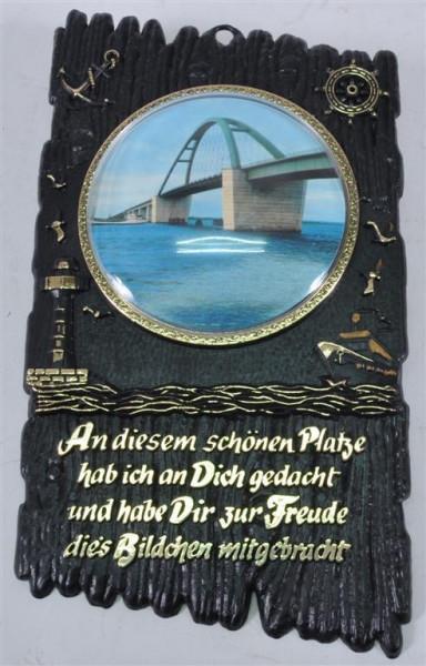 Wanddekoration m. Bild und Spruch ca. 22,5x13,5cm