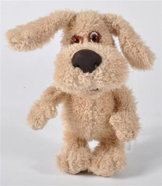 Plüsch Hund beige ca. 22x12x10 cm