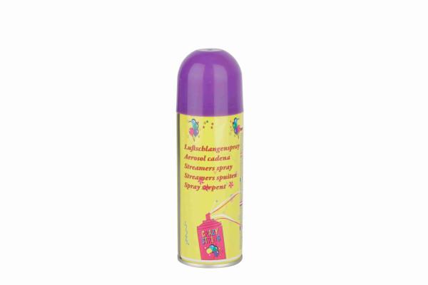 Luftschlangenspray farbl. sort. ca. 17cm H 5cm D