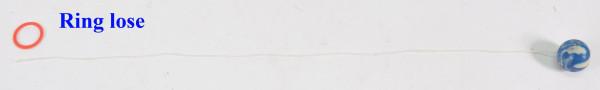 Dopsball 25 m. Schnur farbl.sort. OPP ca. D: 25 mm