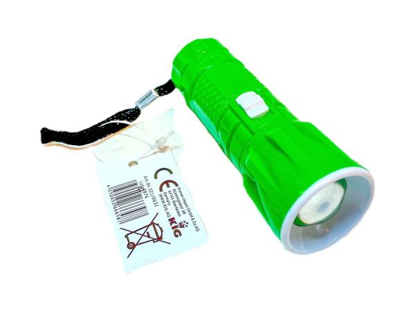 Taschenlampe LED 3farb. sort. DIS, ca.9,5xD:3,5cm