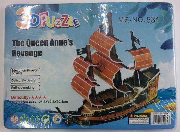 """3D Puzzle """"Bastelset"""" Boot ca. 28,5x21x1cm"""