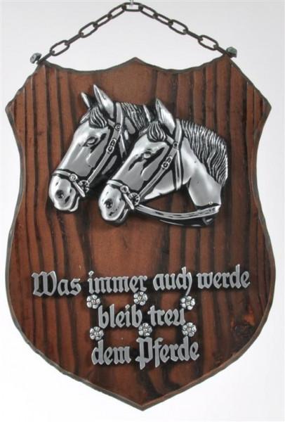 Holzbild m.Pferdemotiv u.Spruch ca. 25x18 cm