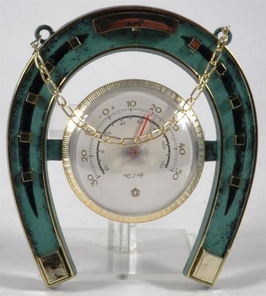 Kunstoffhufeisen m. Thermometer ca. 17x15 cm