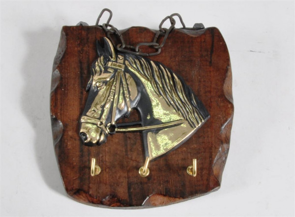 Schlüsselbrett aus Holz m. Motiv ca. 13,5x13 cm