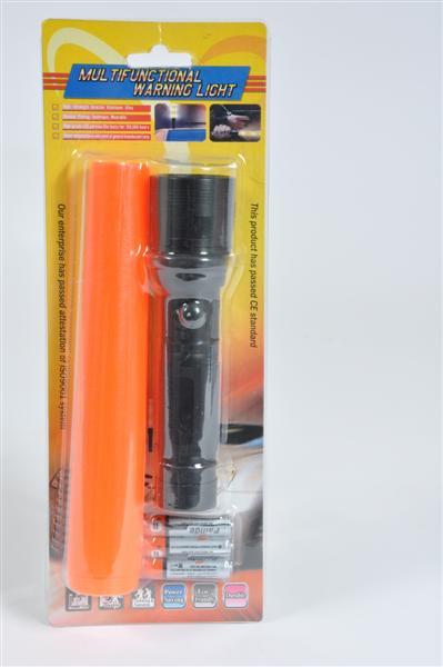 Taschenlampe 3 Watt m. 3 Batterien BC, ca. 27x10cm