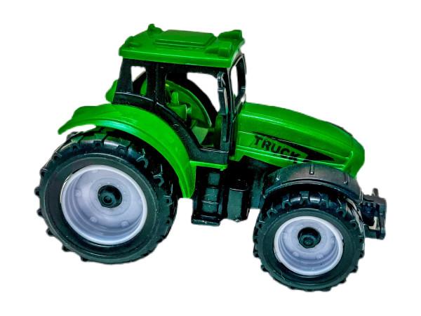 Traktor mit Rückzug farbl. sort. OPP ca. 8x5,5x5,5cm