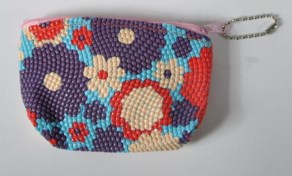 """Geldbörse mit Kette""""Blumen"""" farbl. sort. OPP, ca. 11x7 cm"""