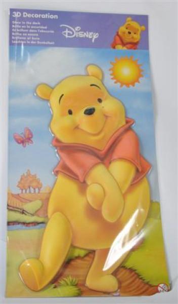 """Glow in the Dark 3D """"Winnie Pooh"""" PB ca. 28,5x57 cm"""