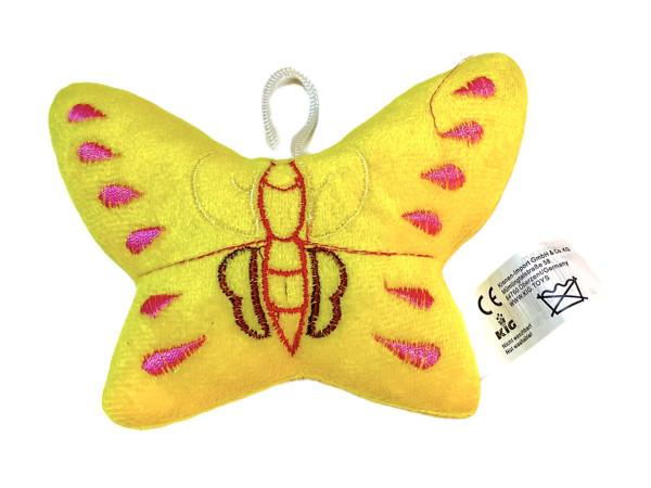Plüsch Schmetterling m.Hänger farbl. sort. ca. 12x9,5 cm
