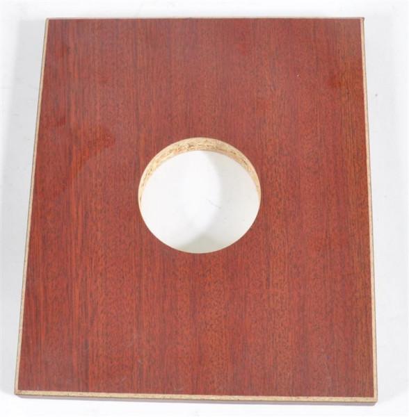 Holzplatte mit Loch ca. 19x16 cm