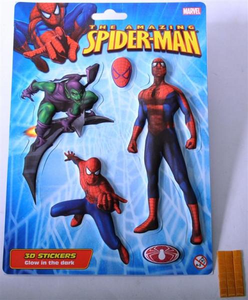 "Sticker 3D ""Spiderman"" glow in the dark AK ca. 22x16cm"