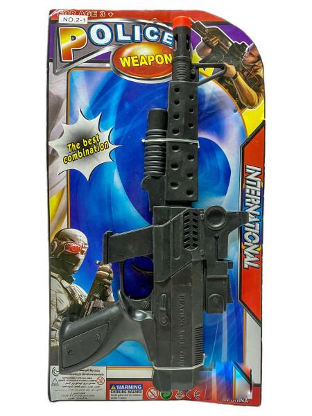 Maschinengewehr mit Sound AK Karte ca. 35x19x3,5cm