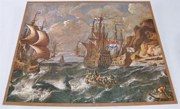 "Bild ""Segelschiffe"" ca. 53x43 cm"