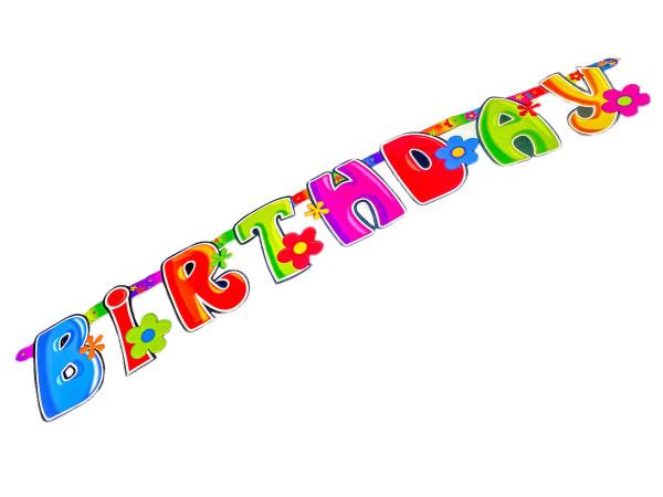 Happy Birthday Girlande PBH, ca. 26,5x23,5cm in Verp.