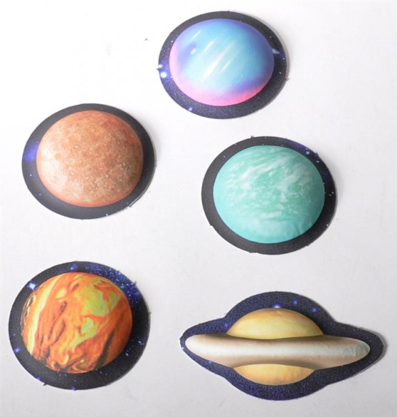 "Sticker 3D ""Planets"" glow in the dark AK ca. 22x16cm"
