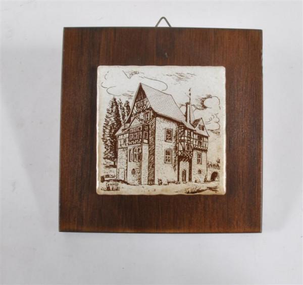 Holzbild sort. ca. 15,5x15,5 cm